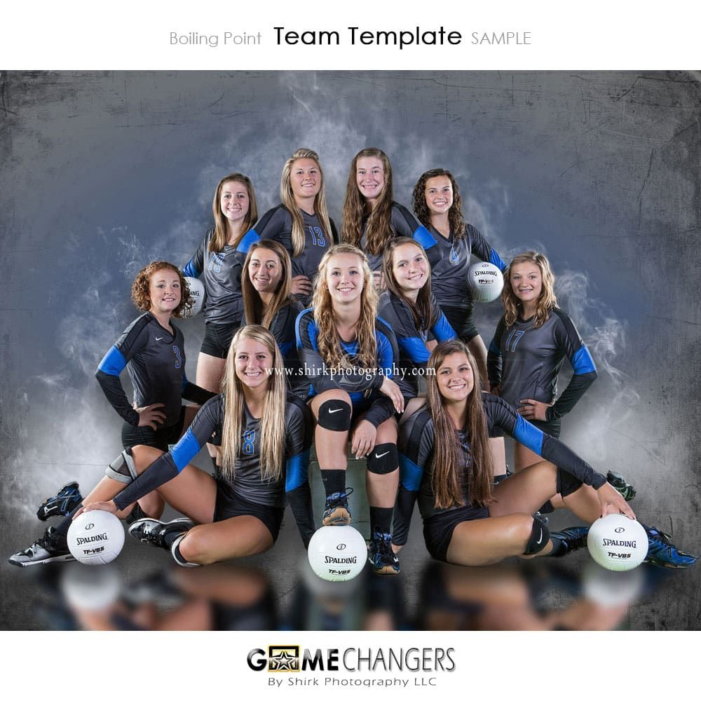 Boiling Point Photoshop Template With Images Volleyball Photography Sports Team Photography Volleyball Senior Pictures