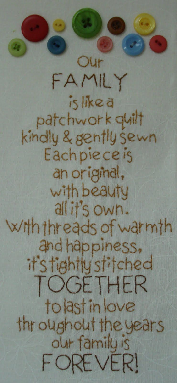 Our Family is like a patchwork quilt - From Lori Holt's Family ... : quilting poem - Adamdwight.com