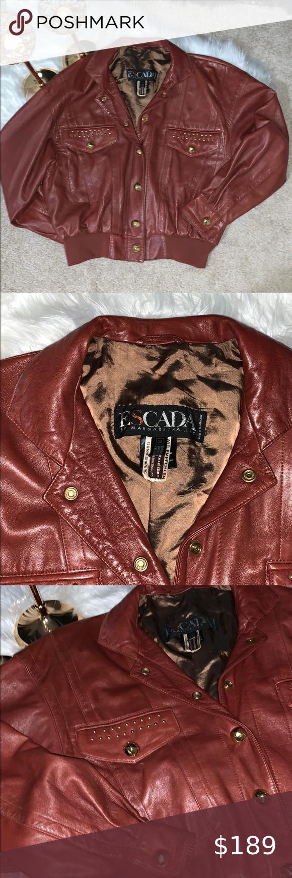 Vintage Escada Leather Jacket Leather Jacket Genuine Leather Jackets Jackets [ 1740 x 580 Pixel ]