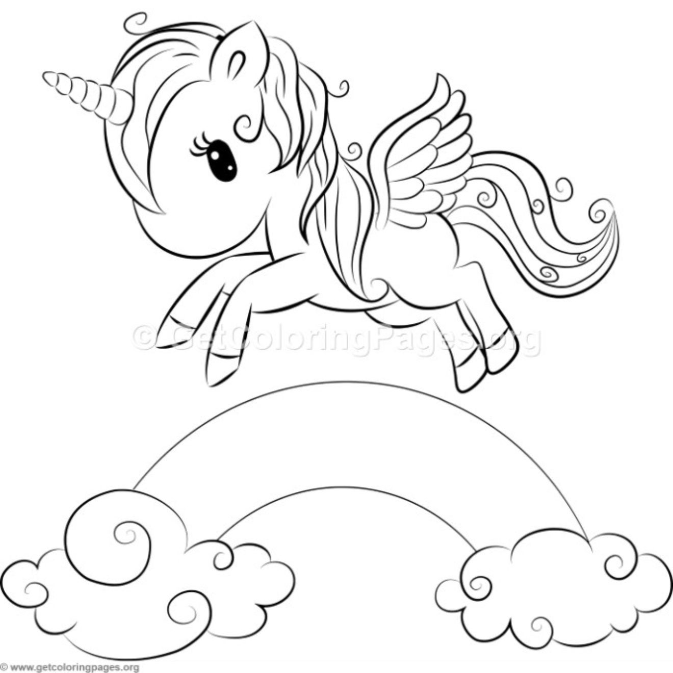 Cute Unicorn 7 Coloring Pages Getcoloringpages Org Unicorn