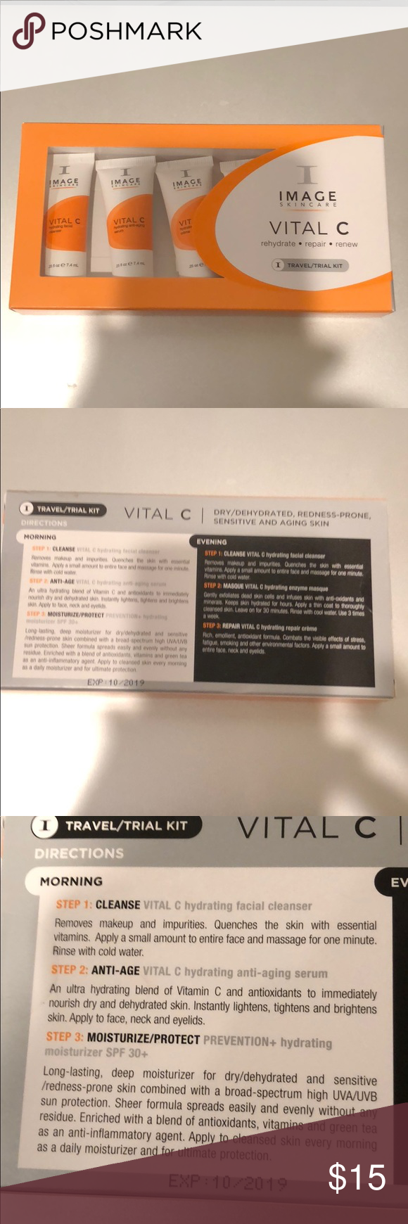 Image Skincare Vital C Travel Kit Nwt My Posh Closet Pinterest