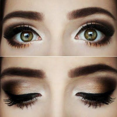 A warm chocolate smokey eye look, perfect for a night out. See the palette used as mentioned in the how-to to achieve this for your next party.