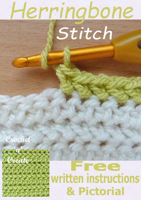 Herringbone Half Double Crochet Pictorial Crochet Stitches For Beginners Crochet Instructions Crochet Stitches Patterns