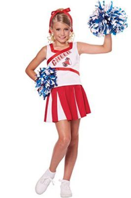 Womans High School Cheerleader Halloween Fancy Dress Party Costume Outfit New