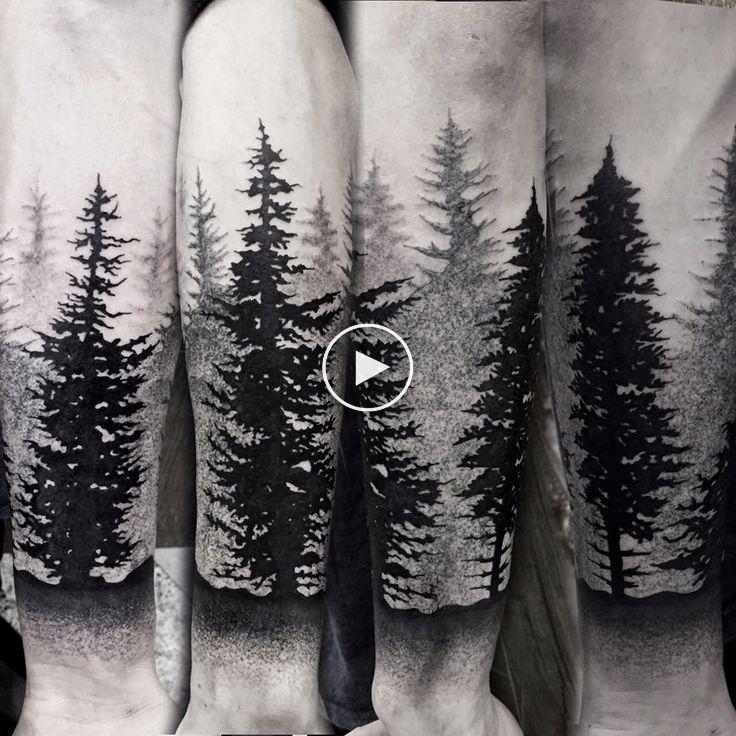 34++ Best Forearm forest tattoo meme image HD