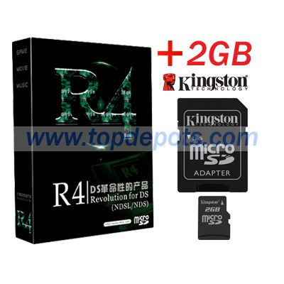 R4 DS Card (R4DS) with 2GB Kingston Micro SD Card | R4 DS