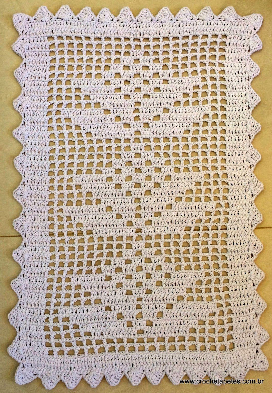 Tapetes em croch encomenda pronta croch tapetes for Tapetes de crochet