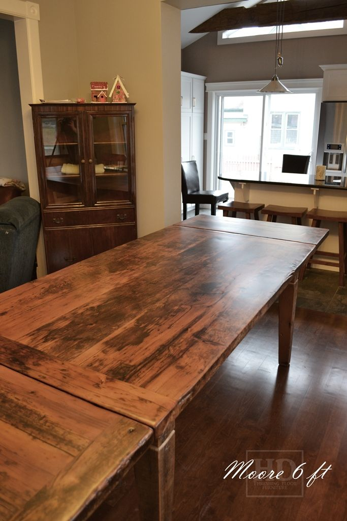6 ft reclaimed wood harvest table local ontario aged for Local reclaimed wood
