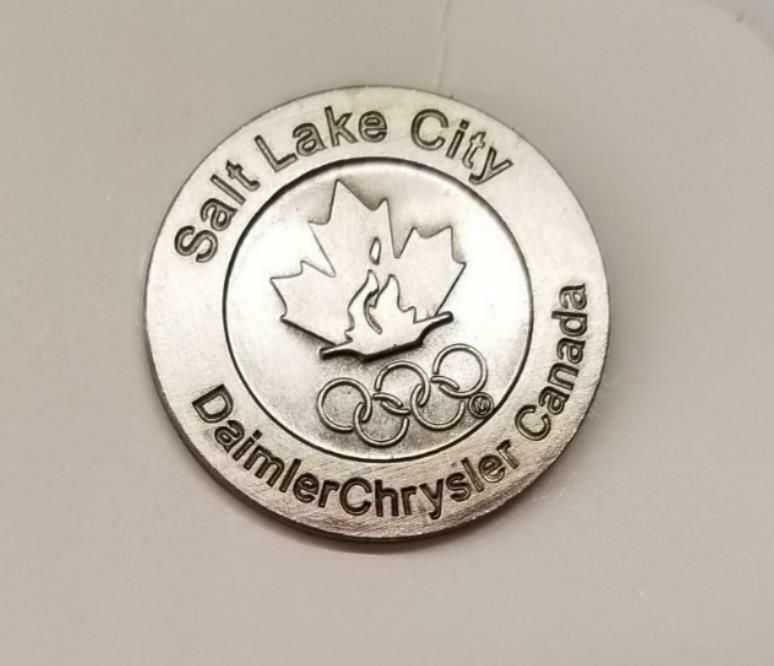 Daimler Chrysler Canada Olympic Salt Lake City 2002 Lapel Hat Pin 223 Salt Lake City Olympics Sponsored Pins
