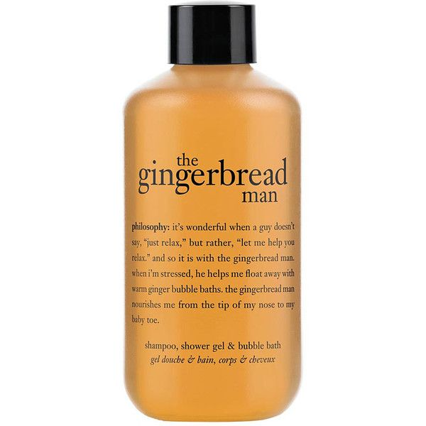 Philosophy Shampoo Shower Gel Bubble Bath Gingerbread Man 7 50 Found On Polyvore Philosophy Shower Gel Shower Gel Bath And Body Care