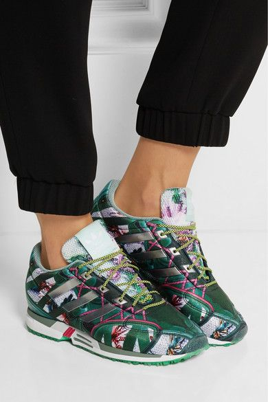 adidas Originals + Mary Katrantzou Bomfared Equipment Racer scuba-jersey  sneakers