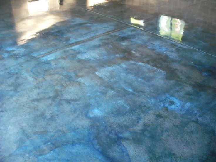 Blue Stained Concrete Floors Google Search