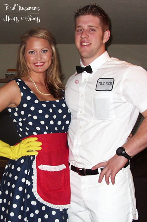 diy housewife the milk man costume