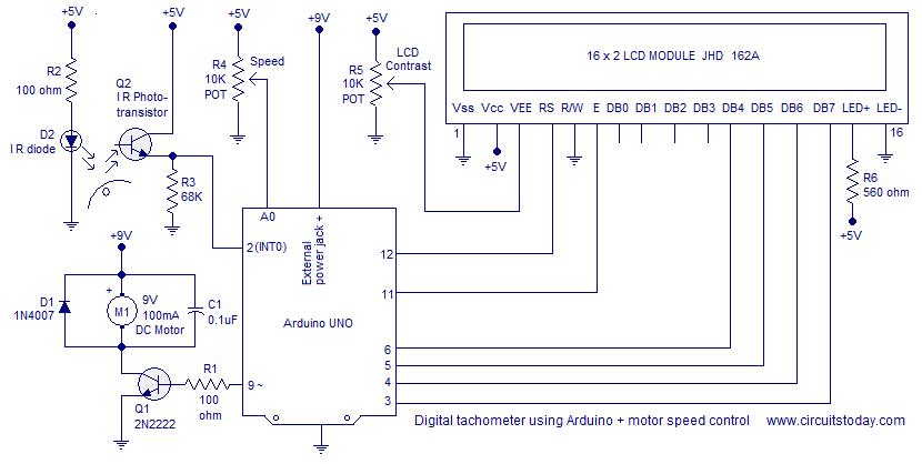 tachometer using arduino | Microcontrollers | Pinterest | Arduino ...