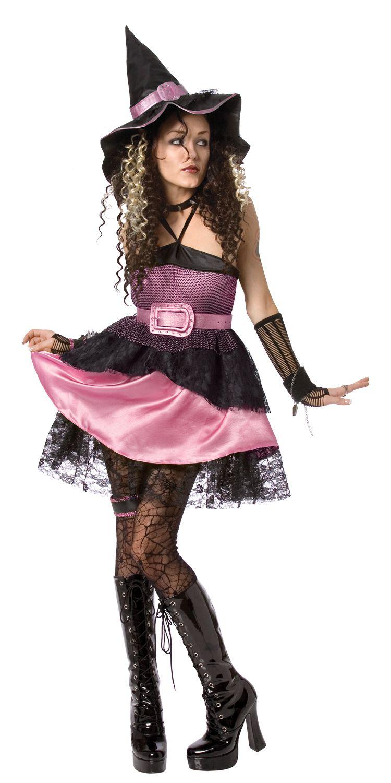 Costume strega halloween donna  Questo costume da strega da donna è  composto da un vestito 351fbc48502f