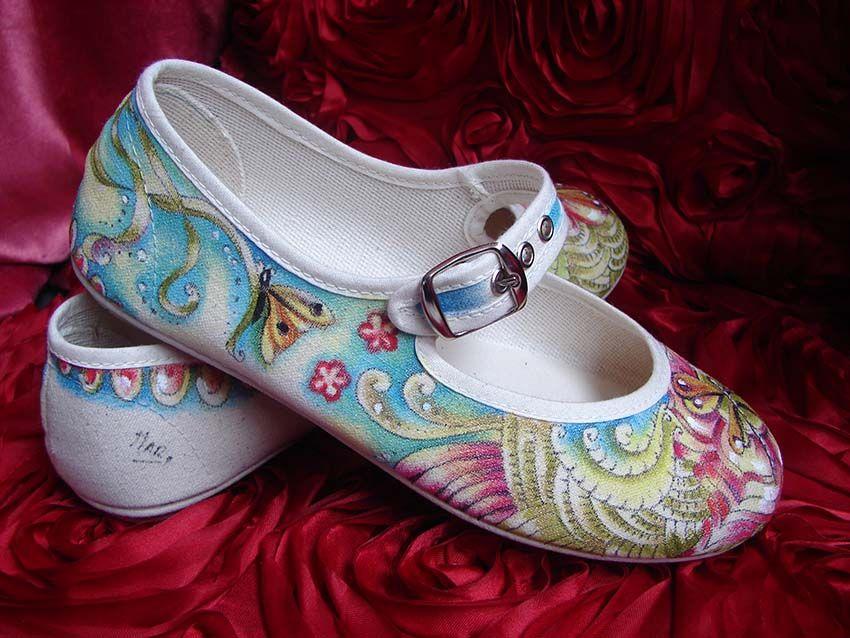 zapatillas pintadas a mano 100% algodón, fabricades en España