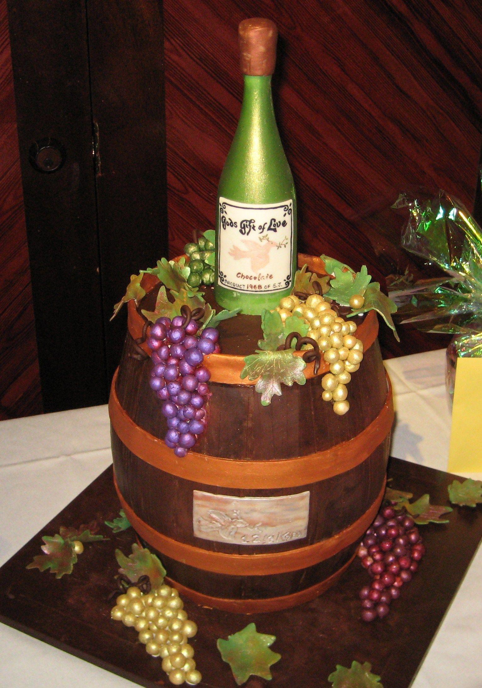 Wine Celebration Birthday - Covered in dark chocolate and ...