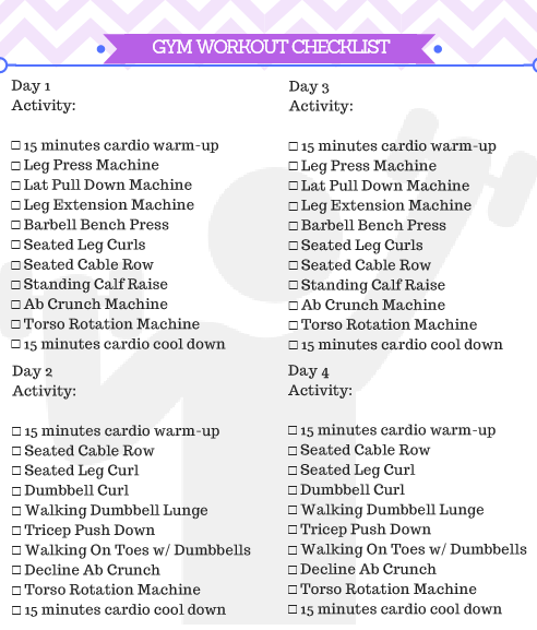 Gorgeous image within printable workout plans for beginners