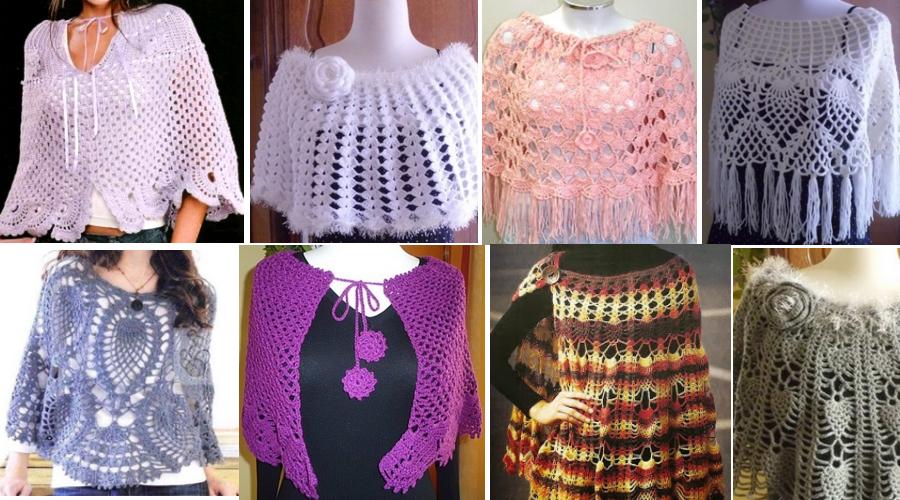 Como tejer ponchos, capitas y mañanitas a crochet, muy fáciles de ...