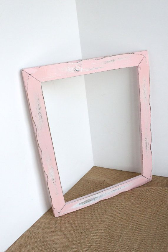 Large Pink Frame Rustic Shabby, vintage open back, wedding, Picture ...