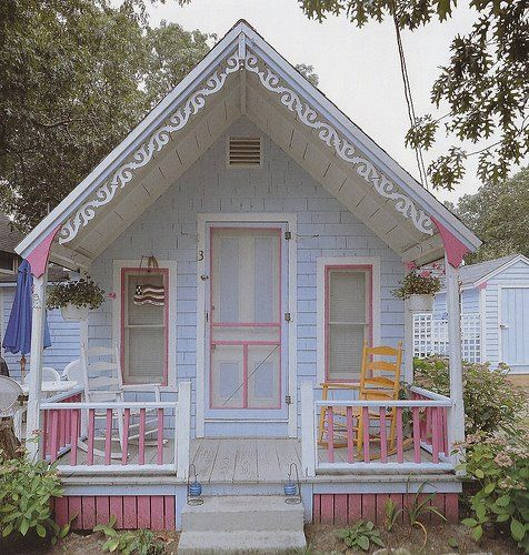 Adorable pastel tiny Victorian cottage...so cute....