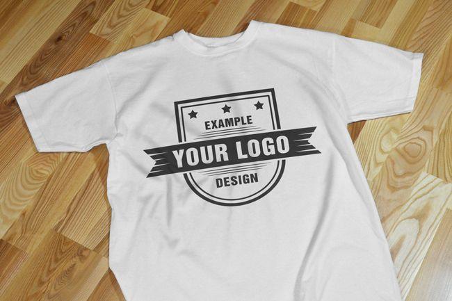 Download T Shirt On Floor Realistic Front View Mockup Mediamodifier Online Mockup Generator Clothing Mockup Custom Tshirt Design Shirts