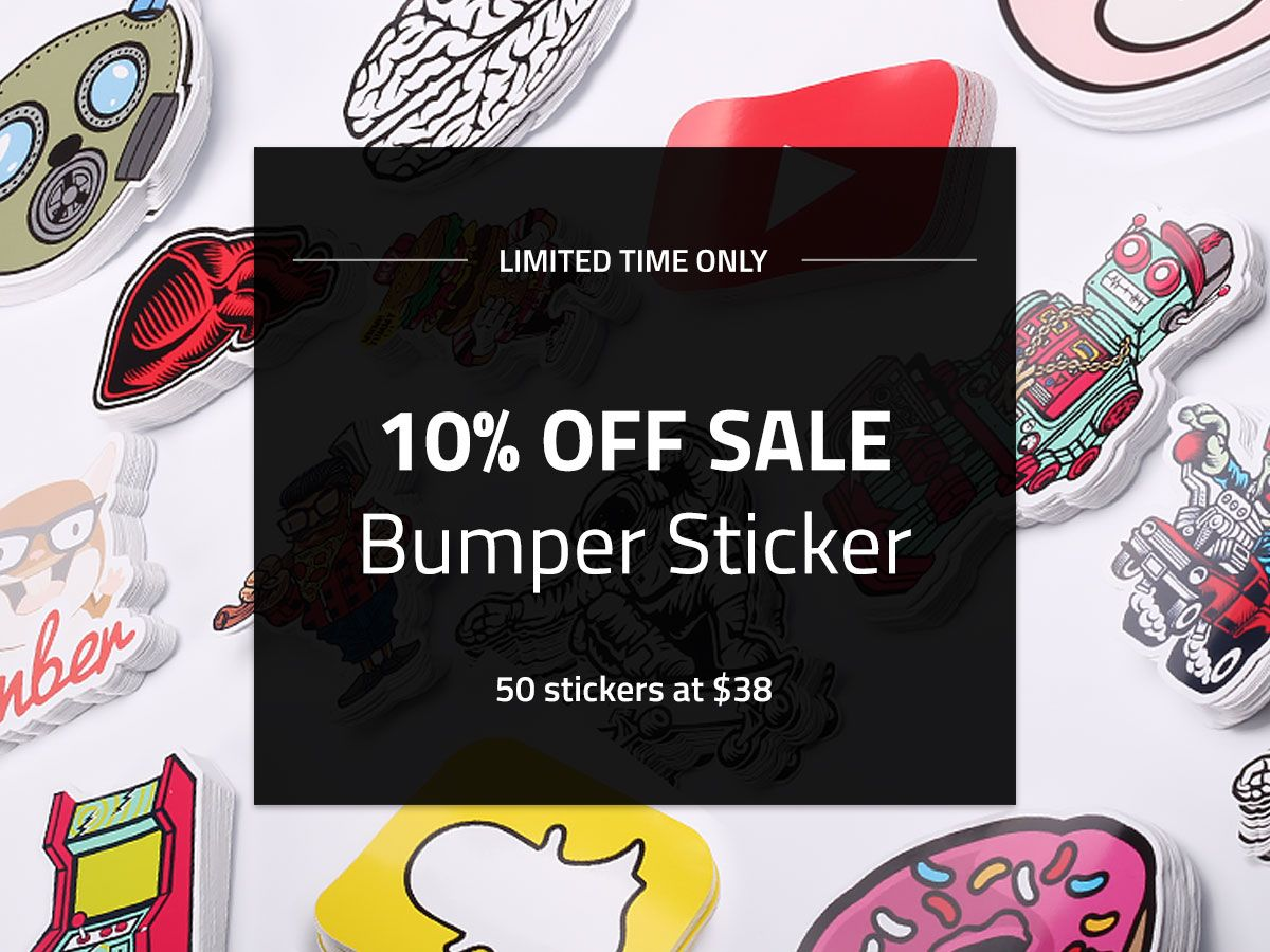Order bumper stickers get 10 off bumperstickers custombumperstickers vinylstickers outdoorstickers outdoorvinyl stickesprinting cheapstickers
