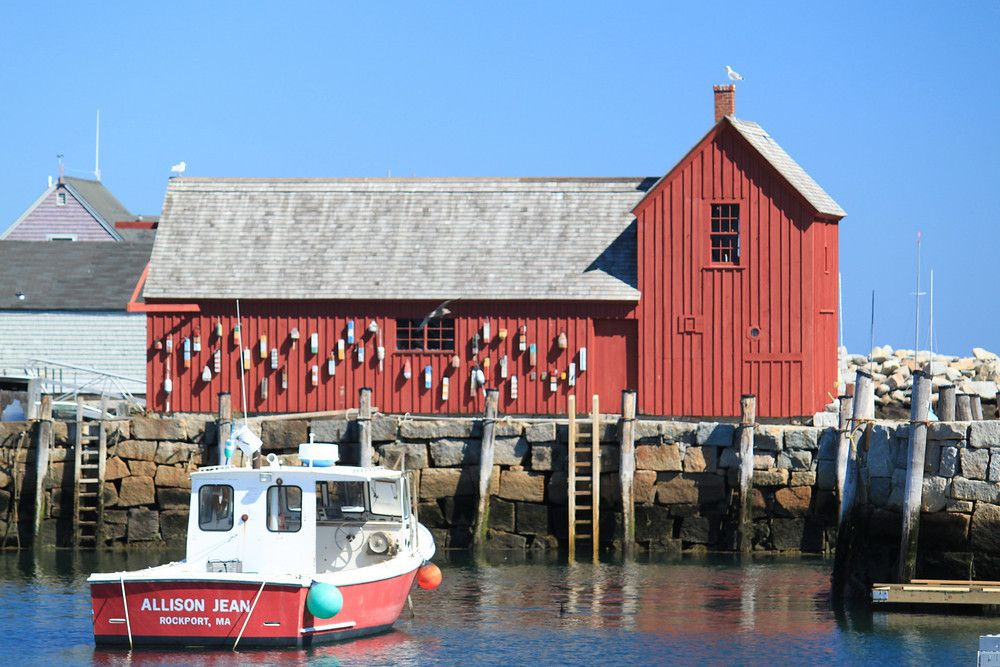 """""""Motif No. 1"""" is known as the most painted building in America. Rockport, Massachusetts."""