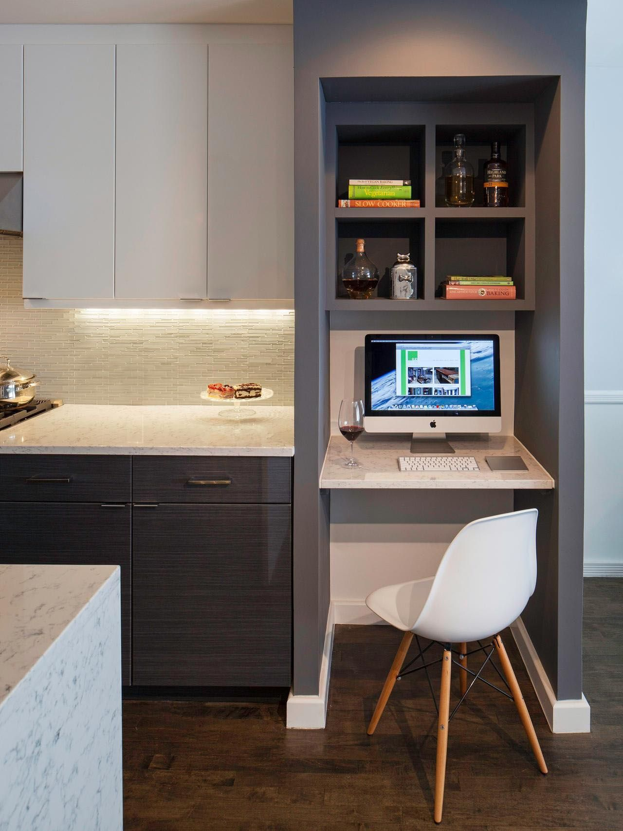 Desk Ideas Perfect For Small Spaces Kitchen Office Nook Kitchen Desk Areas Built In Desk