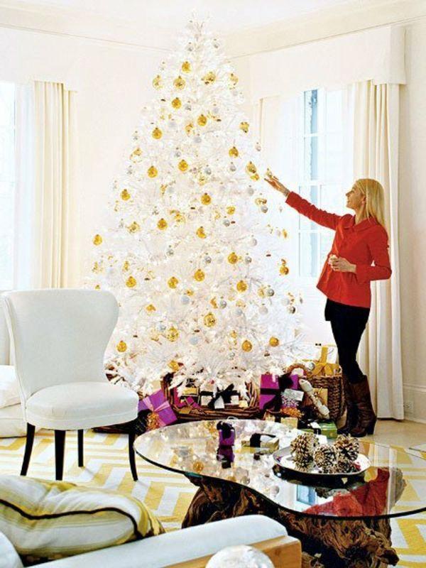 White christmas tree, prepare your lovely party in white! / Le sapin de noel blanc, préparez votre fête jolie en blanc!Archzine- e-zine d`architecture, design d 'intérieur