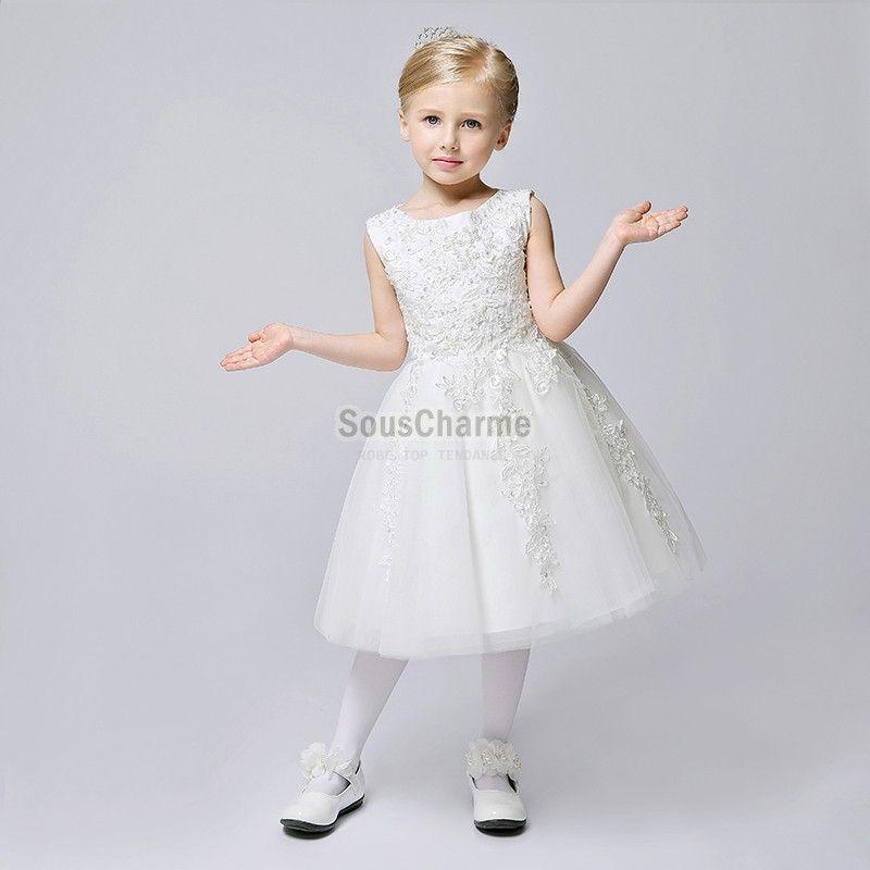 robe mariage enfant fille princesse pas cher jupe en tulle. Black Bedroom Furniture Sets. Home Design Ideas