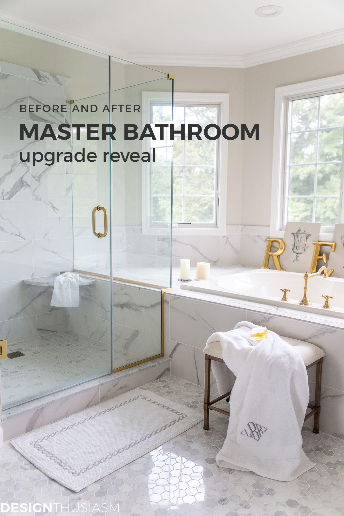 Master Bathroom Reveal New Bathroom Makeover Before And After Master Bathroom Bathroom Design Master Bathroom Upgrade