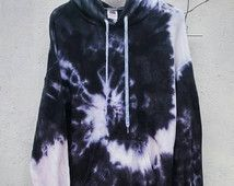 Die schwarze Schlange Tie Dye Hoodie, schwarz Fashion, Indie, grunge
