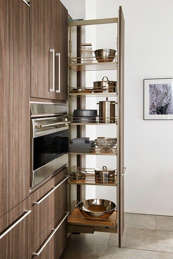 Armarios para ahorrar el espacio en cocinas peque as - Armario de cocina ...