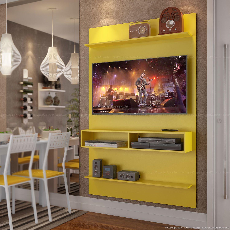 Home Suspenso para TV até 47 Polegadas Plus Amarelo - Urbe Móveis ...
