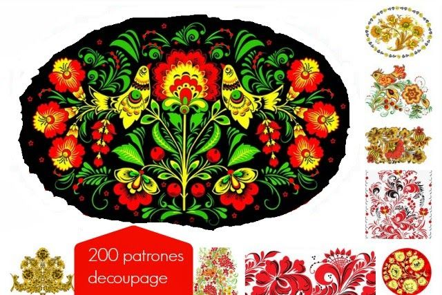 200 Plantillas Rusas Decoupage para Artesanias - enrHedando