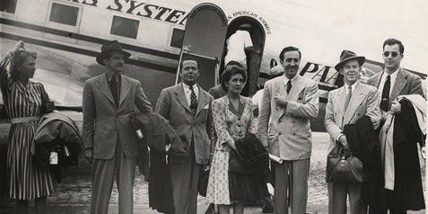 Walt Disney With His Family Walt disney, sa femme lillian,