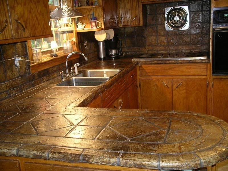 TUMBLED STONE LOOK COUNTERTOP OVERLAY by Turn In2 Stone ...