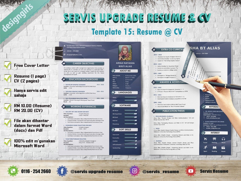 Resume: RM10, CV: RM20 | Resume cv, Resume, Cv template