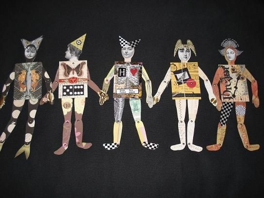 Awesome ATC paper dolls made by Heather Crossley