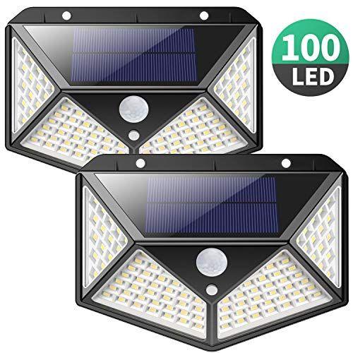 Solarlampen Fur Aussen270 Vierseitige Beleuchtung 2200mahiposible 100 Led Solarleuchte Mit Bewegungsmelder S Solar Aussenleuchte Led Solarleuchte Solarleuchten