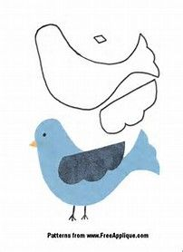 Image result for free applique patterns to print | blue birds | Free