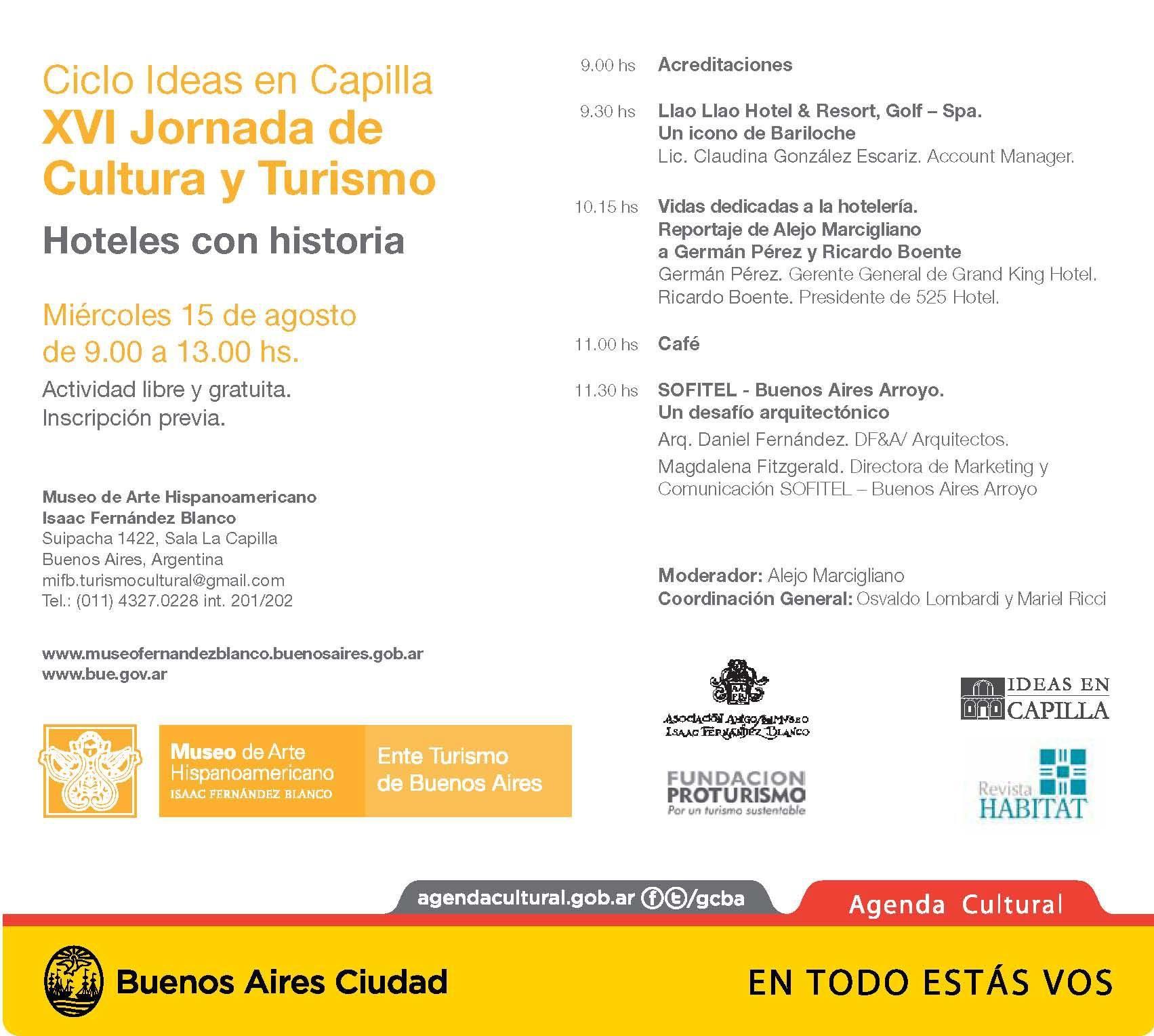 XVI Jornada de Cultura y Turismo  Ciudad de Buenos Aires