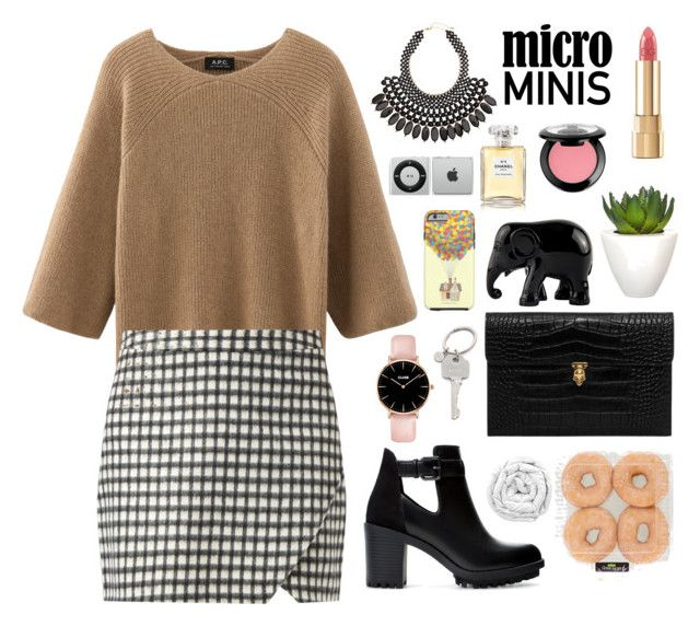 """""""New Trend: Micro Mini Skirts"""" by itsmytimetoshinecoco ❤ liked on Polyvore featuring Zara, Alexander McQueen, H&M, NYX, Dolce&Gabbana, Pomax, The Elephant Family, Chanel, Paul Smith and Brinkhaus"""