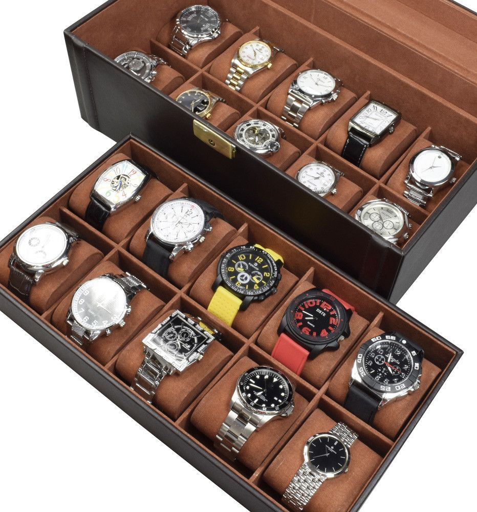 Deluxe Watch Display Case   Products   Pinterest   Watch display ...