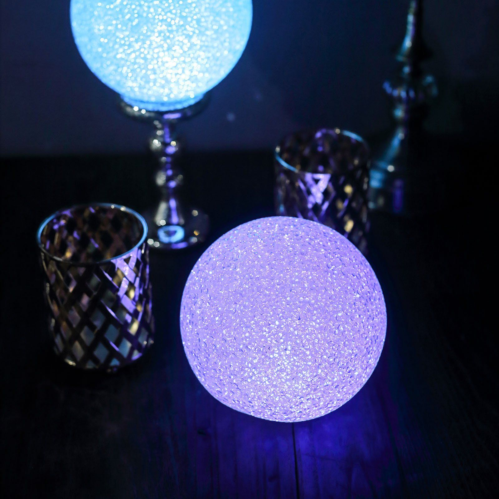 2 Pack 6 Color Changing Portable Led Centerpiece Ball Lights Battery Operated Led Orbs In 2020 Ball Lights Led Ball Lights Battery Powered Led Lights