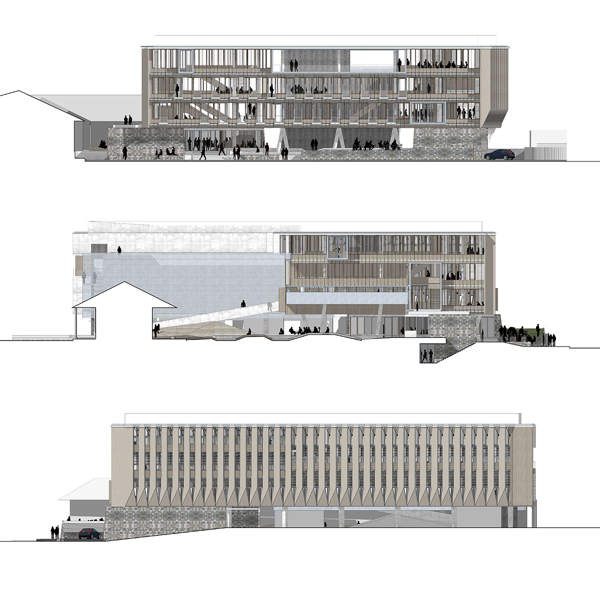 Pin By Mariela Beron On Architectural Drawings Architecture Graphics Architecture Elevation Revit Architecture