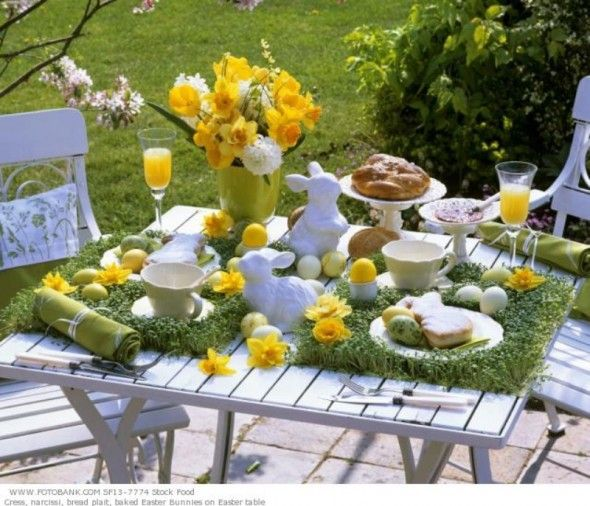Delightful Best Simple Gorgeus Traditional Outdoor Table Decorating Ideas For  Celebrating Easter Day 1