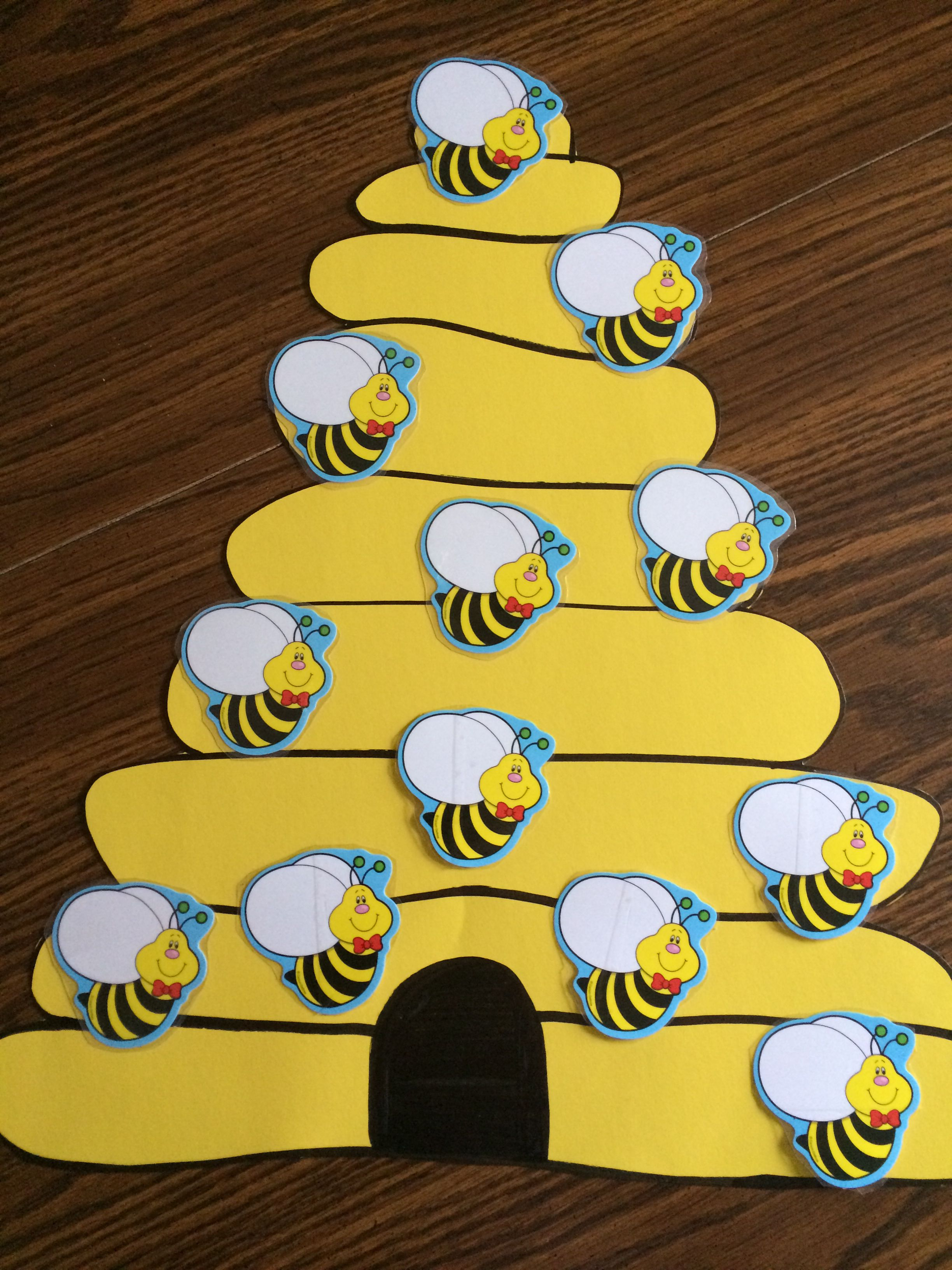 My busy bee attendance chart