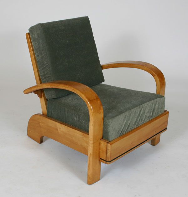 Art Deco Bentwood Club Chair In The Style Of An U0027American Modernu0027 Design By Russel  Wright For Conant Ball, Ca.